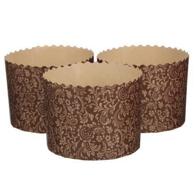Набор форм 3шт, пекарские для кулича, бумажные, d110, h8,5см
