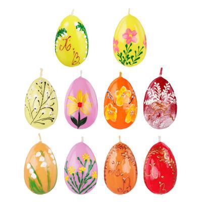 Свеча Пасхальная в форме яйца, 5,5х4,5см, парафин, 10 видов
