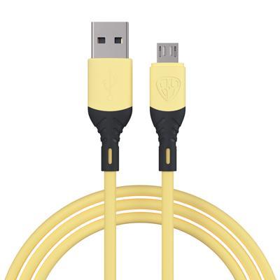 Кабель для зарядки FORZA Карнавал, Micro USB, 1м, 2A, наклейки в комплекте, микс цветов