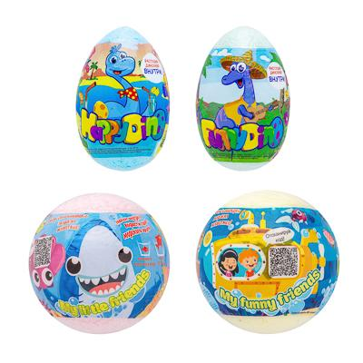 Средство шипучее для ванн My Little friends / Happy Dino с растущей игрушкой, 130г