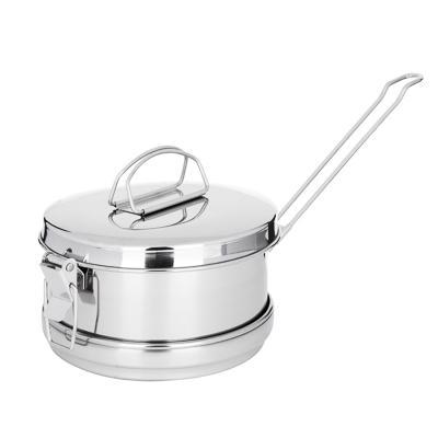 РУССО ТУРИСТО Набор посуды 3 пр. (кастрюля 850мл + кастрюля 350мл + крышка), нерж.сталь