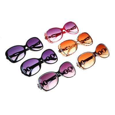 GALANTE Очки солнцезащитные женские, пластик, 143х48мм/145х50мм, 2 дизайна