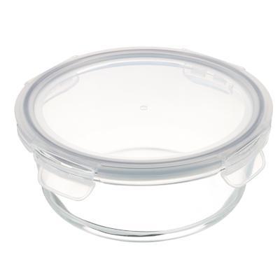VETTA Контейнер для продуктов на защелках 950мл круглый, жаропрочное стекло