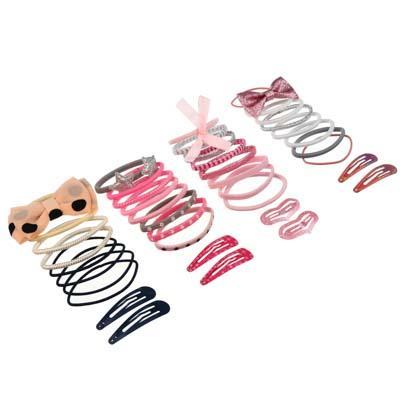 BERIOTTI Набор аксессуаров для волос 10шт, полиэстер, металл, заколки 4-5см, резинки d5см, 4 дизайна