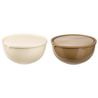 Набор салатников Galaxy 4 шт: 2,5л - 1шт, 0,55л - 3шт, пластик, 2 цвета