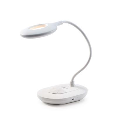 FORZA Лампа настольная, 16 LED, питание USB, кабель 1.5м, 1200Lux, аккум.1200мАч, белая, пластик