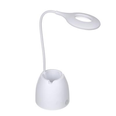 FORZA Лампа настольная, 16 LED, питание USB, с подставкой, кабель 1.5м, 1200Lux, аккум.1200мАч, бел.