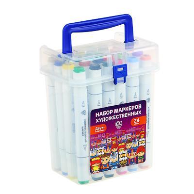 ClipStudio Набор маркеров худож., 24 цвета, 2-стор. (скошенный 3мм + линер 0,5мм), в чехле