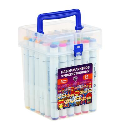 ClipStudio Набор маркеров худож., 36 цветов, 2-стор. (скошенный 3мм + линер 0,5мм), в пласт.боксе
