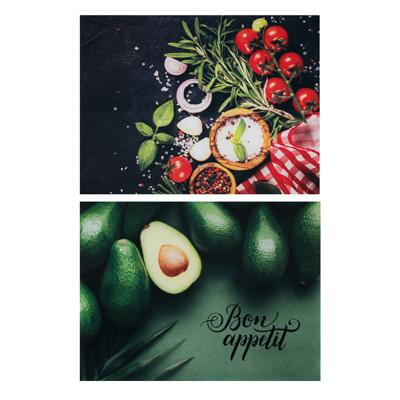 VETTA Овощное ассорти Доска разделочная стеклянная, 30х40х0,4см, 2 дизайна