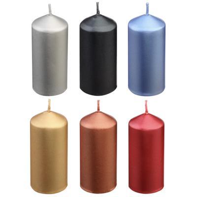 Свеча столбик 4х9 см, лакированный, парафин, 12 цветов