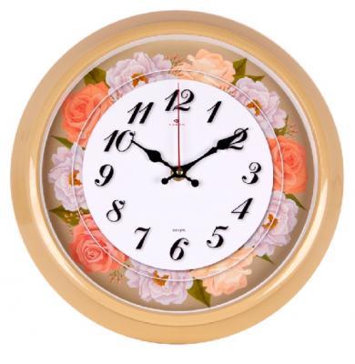 Часы настенные круг d=30см, корпус бежевый