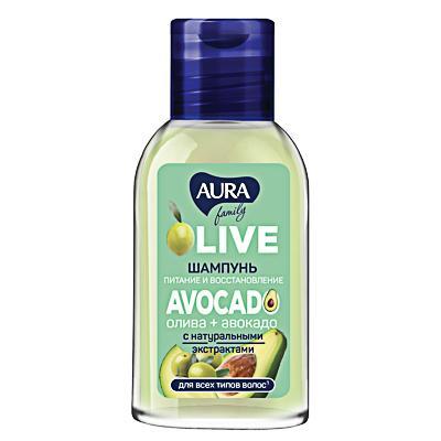 Шампунь AURA Family олива + авокадо, 50мл