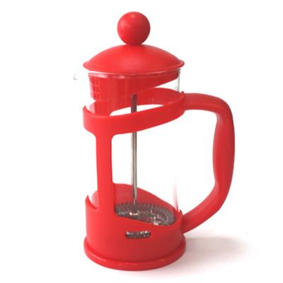 VETTA Клэр Кофейник пластиковый корпус с прессом 350мл красный B04S-350 - 1