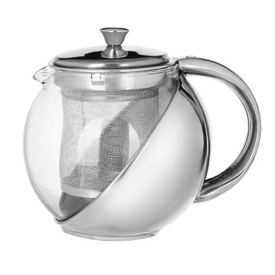 VETTA Чайник заварочный 500мл с ситечком, нерж.сталь, стекло - 1