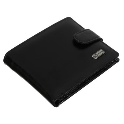 Портмоне мужское из искусственной кожи, черное, PAVO Тоскана