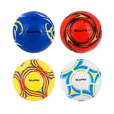 Мяч футбольный, 2 сл, размер 5, 22 см, ПВХ, 4 цвета арт. 001 - 1
