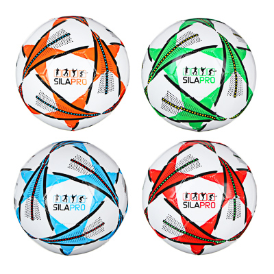 Мяч футбольный, 2 сл, размер 5, 22 см, PVC, 3 цвета, арт. МК20001-3 - 1