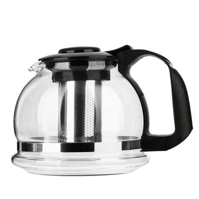Чайник заварочный 1500 мл, ситечко из нержавеющей стали, стекло, пластик - 1