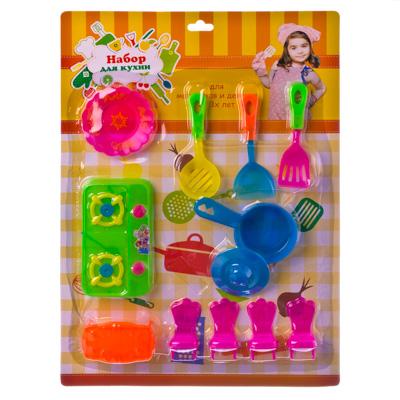 Набор для кухни 12 пр. (посуда, сковорода, кастрюли) пластик - 1