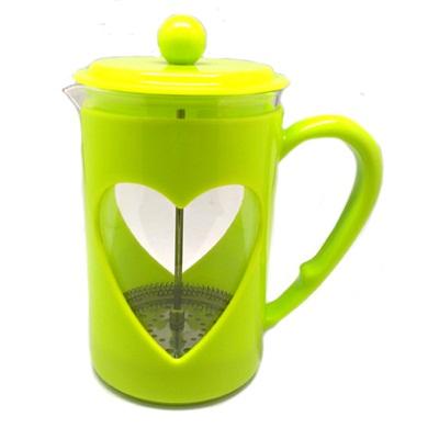 VETTA Свити Кофейник пластиковый корпус с прессом 350мл, зеленый, B040-350 - 1