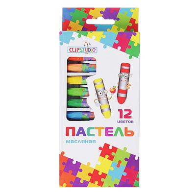 Восковые карандаши, масляная пастель, 12 цветов - 1