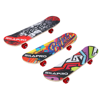 Скейтборд, 61х15 см, Р241-243, пласт.крепеж, 5030 PVC, макс.нагрузка 30 кг, SILAPRO - 1