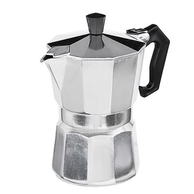 Кофеварка гейзерная, 3 чашки, алюминий(SGS), пластиковая ручка - 1
