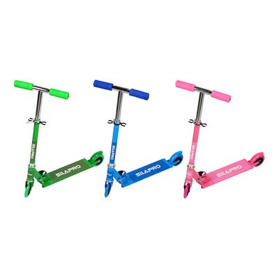 Самокат 2-х колесный,колеса ПВХ, d 95 мм, металл, до 40 кг, 56х75(53)х25 см, 3 цвета, SILAPRO, 015 - 1
