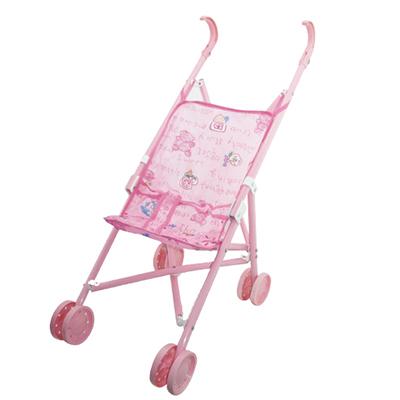 МЕШОК ПОДАРКОВ Коляска для кукол прогулочная розовая, пластик, текстиль, металл, 48,5х24х52,5см - 1