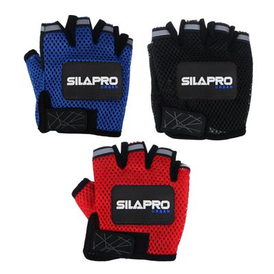 Перчатки для велосипеда и фитнеса, полиэстер, универсальный размер, 3 цвета, SILAPRO - 1