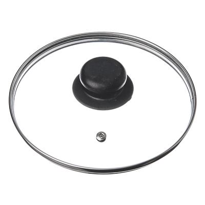 Крышка для сковороды стеклянная с ручкой,металлический ободок, 26 см - 1