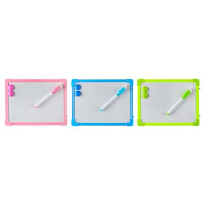 Доска для рисования с маркером, пластик, 20х15см, 3 цвета