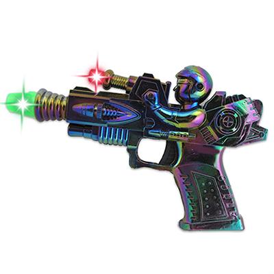 """МЕШОК ПОДАРКОВ Пистолет """"Космический"""" 21см, свет/звук, упак.27,5х17,5х3см, пластик - 1"""