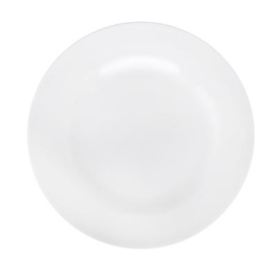 Тарелка мелкая без рисунка белая 200 мм, фарфор