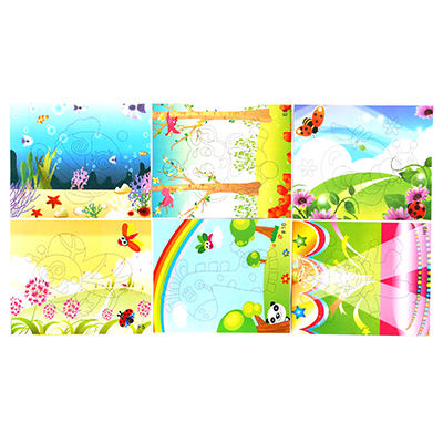 """Аппликация самоклеящаяся """"Микс для малышей"""", 26х21см, бумага, ЭВА, 6 дизайнов - 1"""