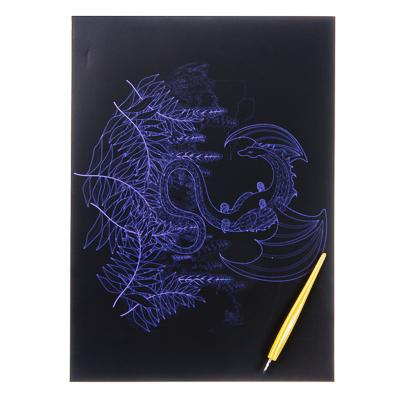 """Гравюра 21х29см, в комплекте со штихелем, """"Василиск"""", эффект голография, GC Design - 1"""