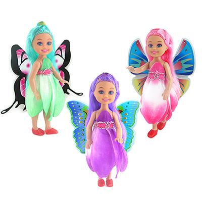 МЕШОК ПОДАРКОВ Кукла с крыльями, пластик, полиэстер, 14см, 3 дизайна, 100991621 - 1