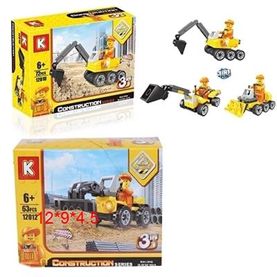 K Конструктор пластик 3-в-1, 6+, 2 дизайна, Стр-12010,12012 - 1