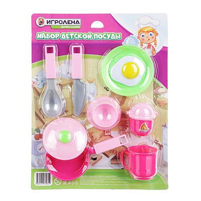 ИГРОЛЕНД Набор детской посуды, пластик, 32х24х4см, 4 дизайна, WD-H47/53 - 1