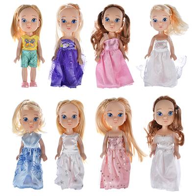 Кукла в платье принцессы, пластик, полиэстер, 14см, 8 дизайнов, YL1603K-B/C - 1