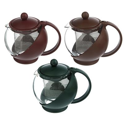 Чайник заварочный 500 мл, ситечко из нержавеющей стали, стекло/пластик - 1