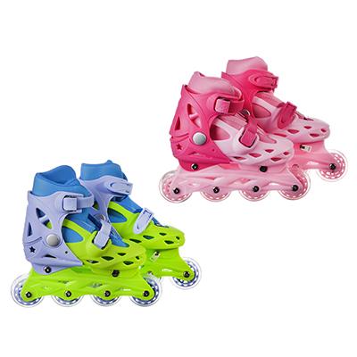 Коньки роликовые развижные, база пластик, колеса ПВХ, М:35-38, 4 цвета, SILAPRO - 1