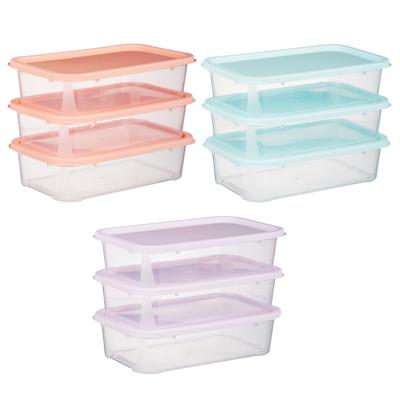 Набор контейнеров 3шт, 18,5x11,5x4,8см, пластик - 1