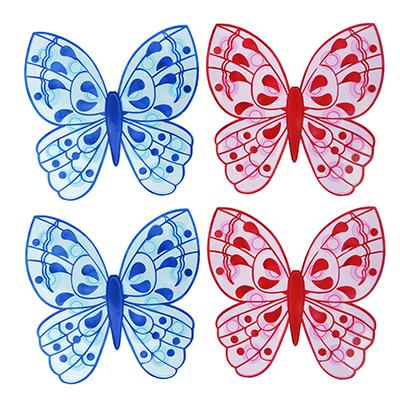 "Набор мини-ковриков для ванны противоскользящих 4шт, ПВХ, 13х12,7см, VETTA ""Бабочка"" - 1"
