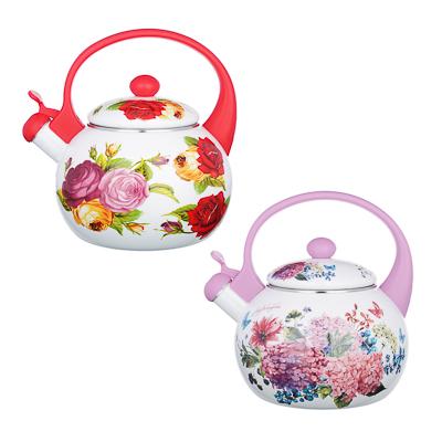 Чайник 2,2 л VETTA Цветы, эмалированный со свистком, индукция - 1