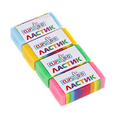 Ластик ClipStudio в картонном держателе, 4 цвета - 1