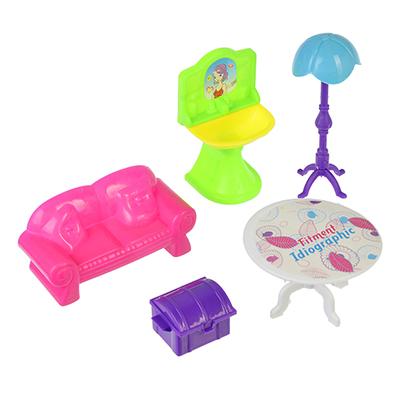 МЕШОК ПОДАРКОВ Набор мебели для кукол, пластик, 19х17х4см, 6 дизайнов - 1