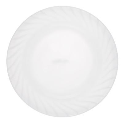 """Тарелка подстановочная d.23 см, опаловое стекло, MILLIMI """"Бьянко"""" - 1"""