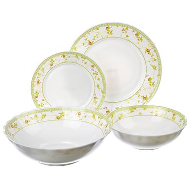 """Набор столовой посуды 19 предметов, опаловое стекло, MILLIMI """"Франческа"""" - 1"""
